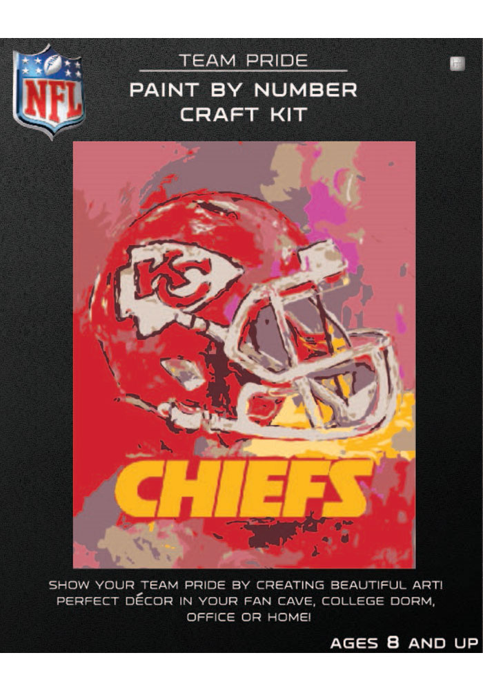 Kansas City Chiefs Paint By Number Craft Kit Puzzle - Image 1