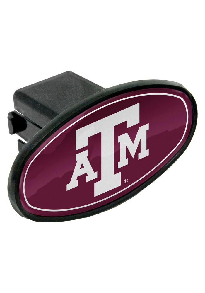 Texas A&M Aggies Plastic Oval Car Accessory Hitch Cover - Image 1