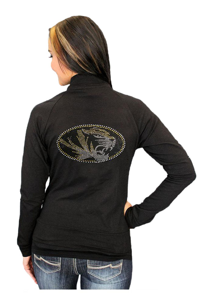Gameday Couture Missouri Tigers Juniors Black Cadet Long Sleeve Track Jacket - Image 2
