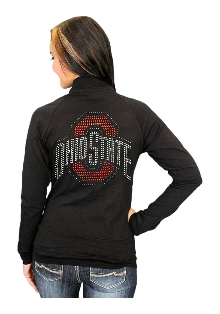 Gameday Couture Ohio State Buckeyes Juniors Black Cadet Long Sleeve Track Jacket - Image 2