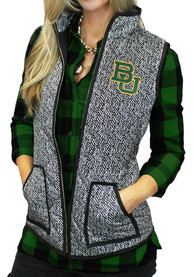 Gameday Couture Baylor Bears Juniors Grey Herringbone Quilted Vest Vest