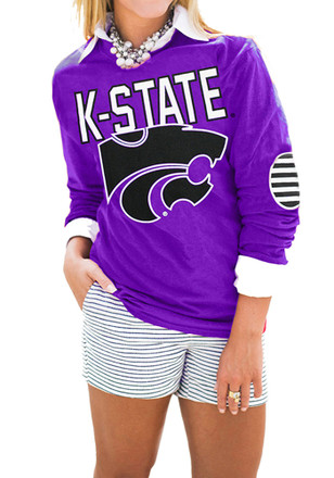Gameday Couture K-State Wildcats Womens Purple T-Shirt