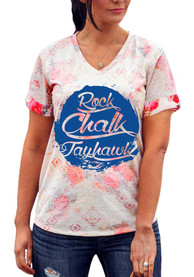 Gameday Couture Kansas Jayhawks Womens Pink In Bloom V-Neck
