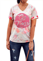 Gameday Couture Horned Frogs Womens Pink In Bloom V-Neck