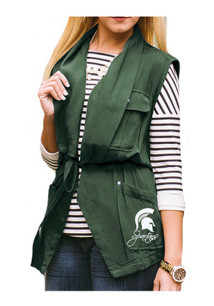 Gameday Couture Michigan State Spartans Womens Green About Face Vest