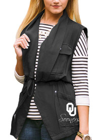 Gameday Couture Oklahoma Sooners Womens Black About Face Vest