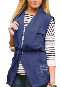 Gameday Couture Penn State Nittany Lions Womens Navy Blue About Face Vest