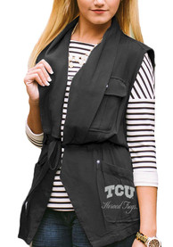 Gameday Couture TCU Horned Frogs Womens Navy Blue About Face Vest