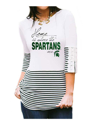 Gameday Couture MSU Womens Button-Back White T-Shirt
