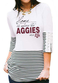 Gameday Couture Texas A&M Aggies Womens Button-Back White T-Shirt