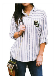 Baylor Bears Womens Gameday Couture Ill Be Back Dress Shirt - White