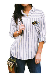 Gameday Couture Mizzou Tigers Womens White I'll Be Back Dress Shirt