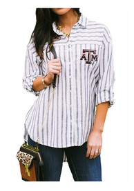 Texas A&M Aggies Womens Gameday Couture Ill Be Back Dress Shirt - White