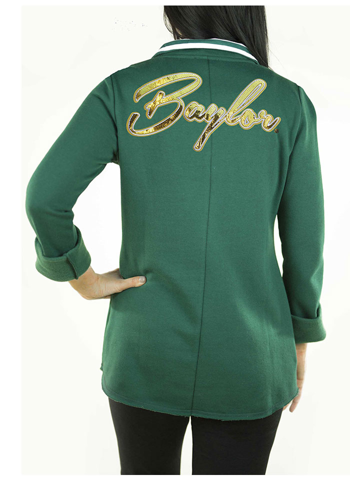 Gameday Couture Baylor Bears Womens Green Tunic Fleece 1/4 Zip Pullover - Image 2
