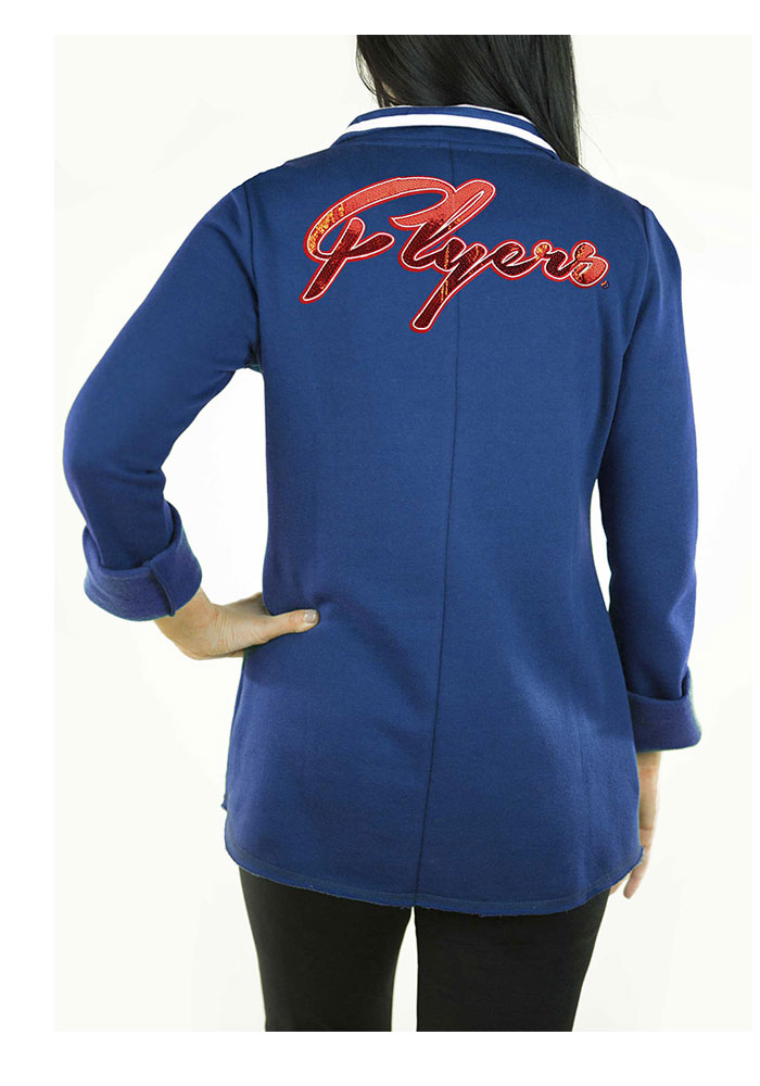 Gameday Couture Dayton Flyers Womens Blue Tunic Fleece 1/4 Zip Pullover - Image 2