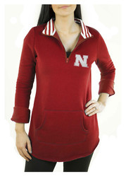 Gameday Couture Nebraska Cornhuskers Womens Tunic Fleece Red 1/4 Zip Pullover