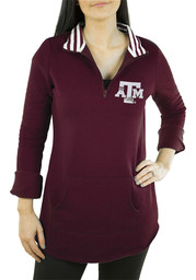 Gameday Couture Texas A&M Aggies Womens Tunic Fleece Maroon 1/4 Zip Pullover