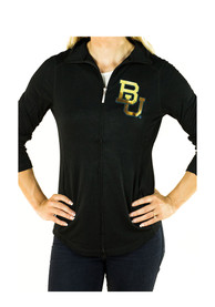 Baylor Bears Womens Gameday Couture Cadet Full Zip Jacket - Black