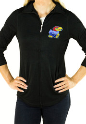 Gameday Couture KU Jayhawks Womens Navy Blue Cadet Full Zip Jacket