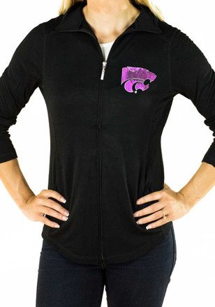 Gameday Couture K-State Wildcats Womens Black Cadet Full Zip Jacket