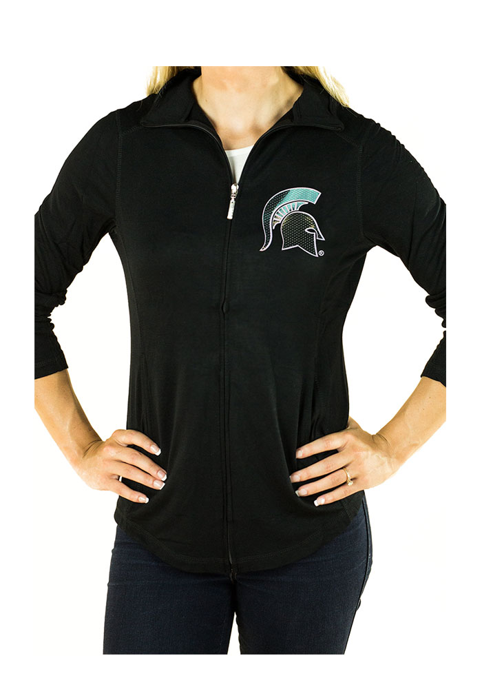 Gameday Couture Michigan State Spartans Womens Black Cadet Long Sleeve Full Zip Jacket - Image 1