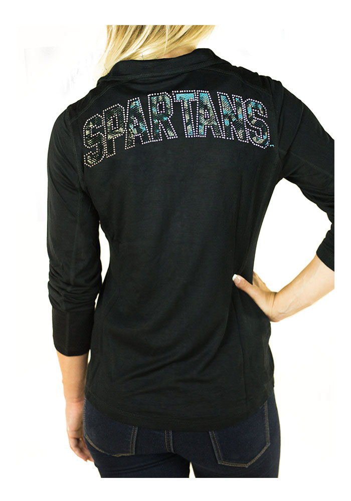 Gameday Couture Michigan State Spartans Womens Black Cadet Long Sleeve Full Zip Jacket - Image 2