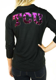 TCU Horned Frogs Womens Gameday Couture Cadet Full Zip Jacket - Black