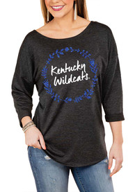 Kentucky Wildcats Womens Gameday Couture Floral Ring Crew Sweatshirt - Charcoal