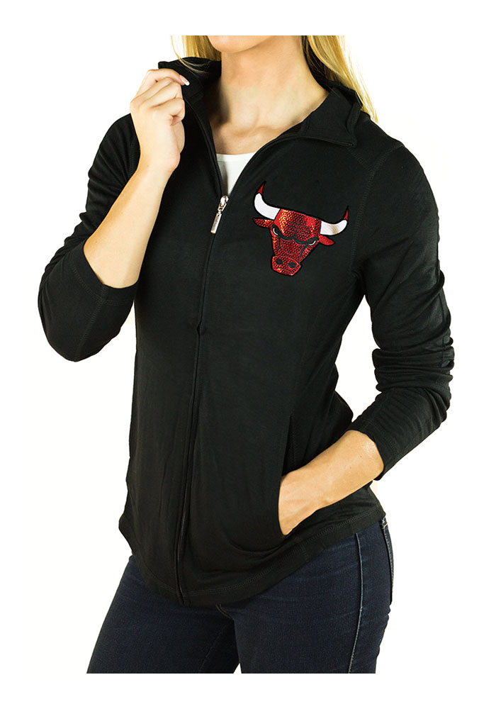 Gameday Couture Chicago Bulls Womens Black Cadet Long Sleeve Full Zip Jacket - Image 1