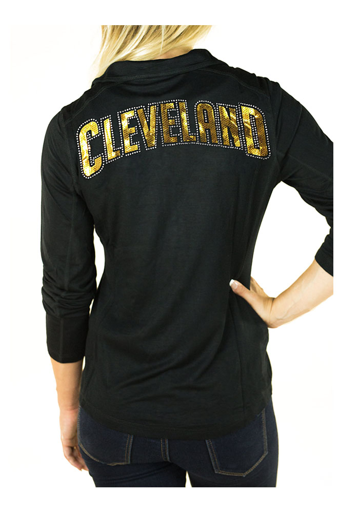 Gameday Couture Cleveland Cavaliers Womens Black Cadet Long Sleeve Full Zip Jacket - Image 2