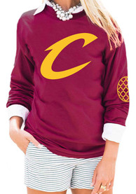 Gameday Couture Cleveland Cavaliers Womens Red Elbow Patch Women's Crew