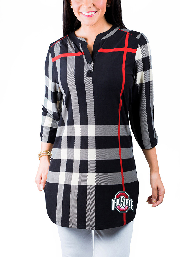 Gameday Couture Ohio State Buckeyes Womens True Tunic Long Sleeve Red Dress Shirt - Image 1