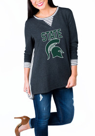Gameday Couture Michigan State Spartans Womens Charcoal Youll Be Back Womens Crew