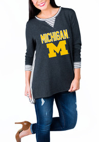 Gameday Couture Michigan Wolverines Womens Charcoal Youll Be Back Womens Crew