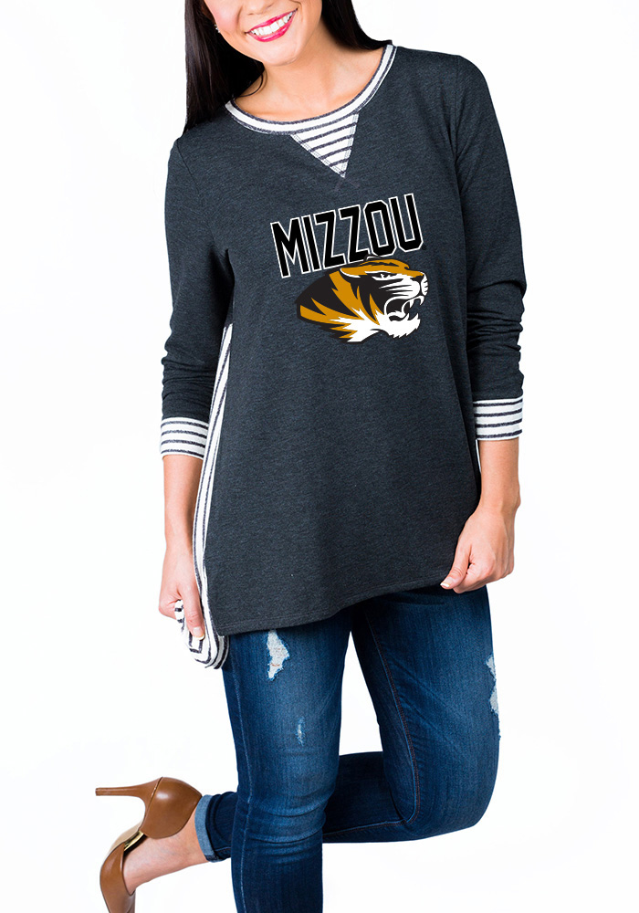 Gameday Couture Missouri Tigers Womens Grey You'll Be Back Long Sleeve  Women's Crew -