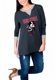Gameday Couture Ohio State Buckeyes Womens Charcoal Youll Be Back Womens Crew