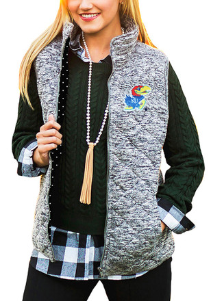 Gameday Couture Kansas Jayhawks Womens Grey City Chic Vest