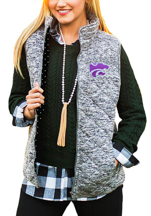 Gameday Couture K-State Wildcats Womens Grey City Chic Vest