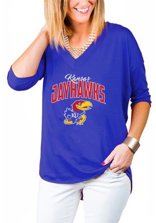 Gameday Couture Kansas Jayhawks Womens Blue Weekender T-Shirt