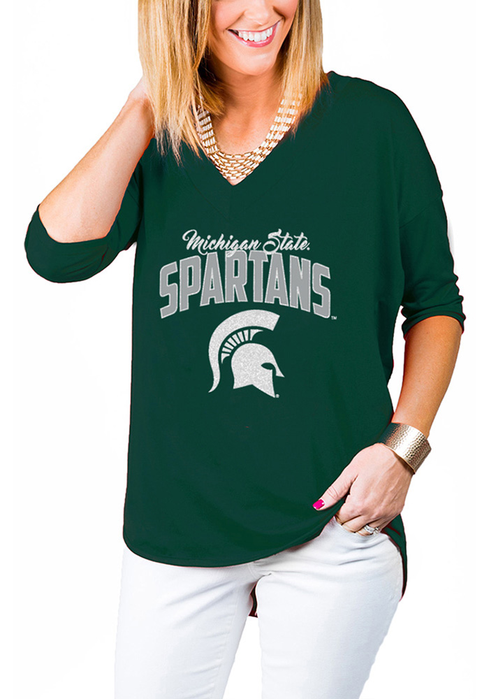Gameday Couture Michigan State Spartans Womens Green Weekender T-Shirt