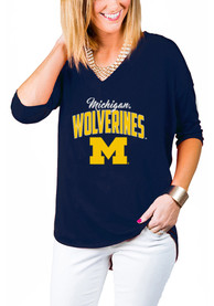 Gameday Couture Michigan Wolverines Womens Navy Blue Weekender T-Shirt