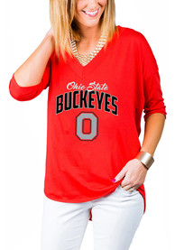 Gameday Couture Ohio State Buckeyes Womens Red Weekender T-Shirt