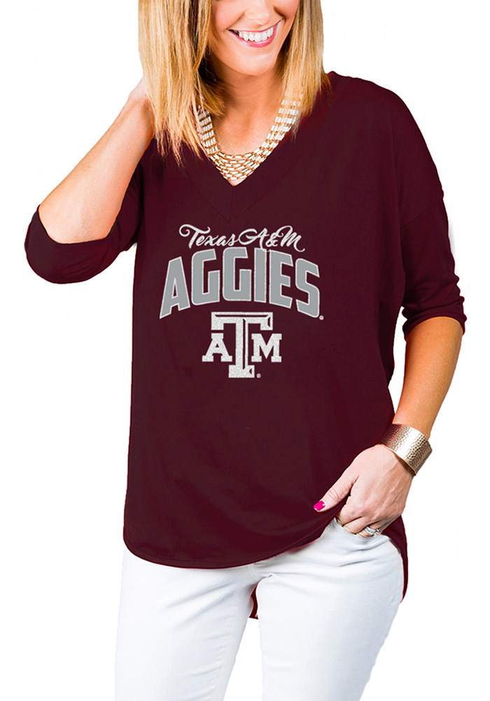 Gameday Couture Texas A&M Aggies Womens Maroon Weekender Long Sleeve T-Shirt - Image 1