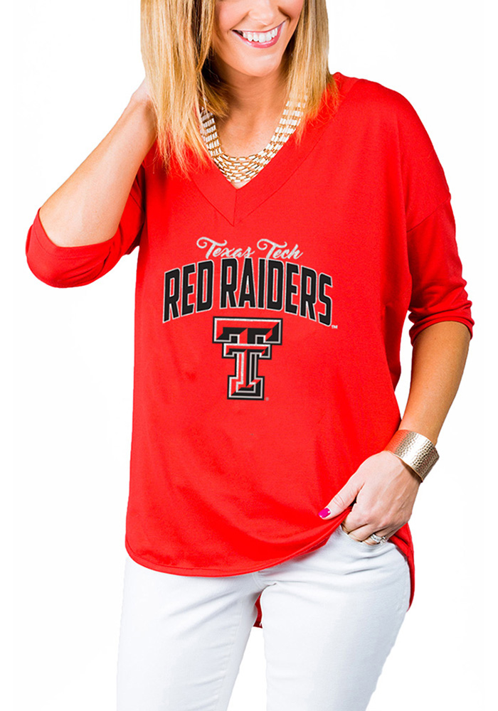 Gameday Couture Texas Tech Red Raiders Womens Red Weekender Long Sleeve T-Shirt - Image 1