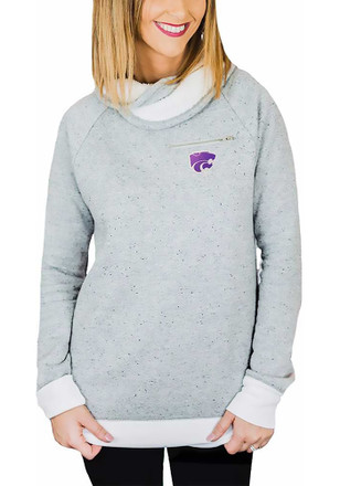 Gameday Couture K-State Wildcats Womens Keep It Comfortable Grey Crew Sweatshirt