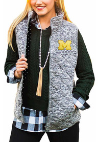 Gameday Couture Michigan Wolverines Womens Grey City Chic Vest