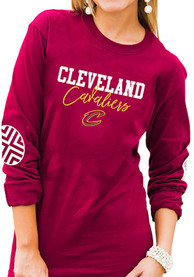 Cleveland Cavaliers Womens Gameday Couture Pride Patch Crew Neck T-Shirt - Red