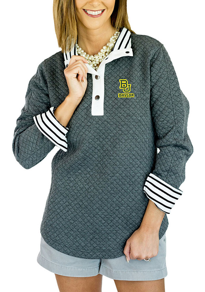 Gameday Couture Baylor Bears Womens Grey Out of your League 1/4 Zip Pullover - Image 1