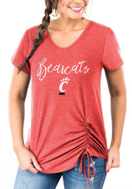 Cincinnati Bearcats Womens Gameday Couture In A Cinch T-Shirt - Red