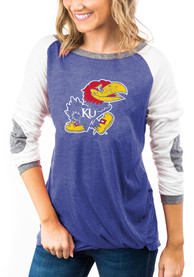 Kansas Jayhawks Womens Gameday Couture Best In The Game T-Shirt - Blue